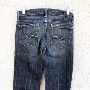 7 FOR ALL MANKIND Gray Straight Leg Jeans